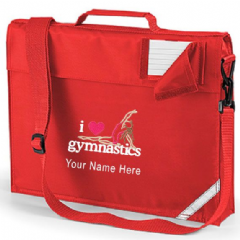 Personalised I LOVE GYMNASTICS School Book Bag